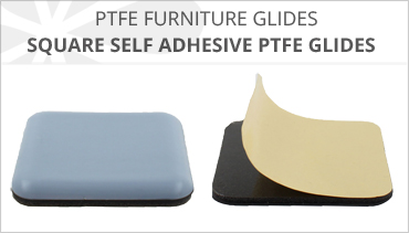 SQUARE PTFE SELF ADHESIVE FURNITURE GLIDES